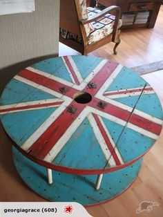 Industrial Cable Reel Coffee Table