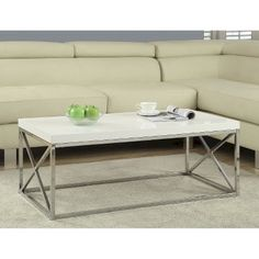 Monarch Metal Coffee Table - White