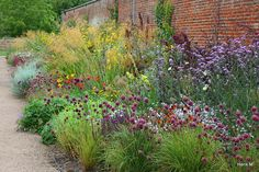 Borders at the Walled Garden, Wimpole
