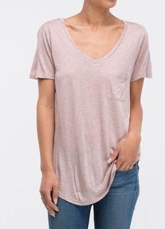 Boyfriend Pocket Tee in Taro