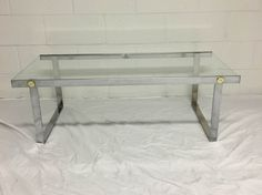 Chrome and Glass Coffee Table by BetzBasement on Etsy