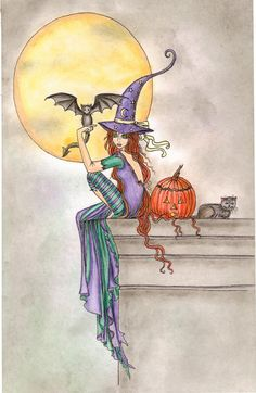 Halloween Coloring Book: by Molly Harrison:  By Roseanne M. on Sep 26, 2015  These are the most charming witches and cats!