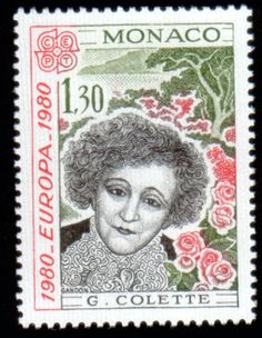 Literary Stamps: Colette, Sidonie-Gabrielle (1873 – 1954)