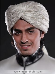 Traditional #turban for men, pre-tied #wedding turban in beige color http://www.needlehole.com/traditional-turban-for-men-in-beige-color.html Traditional turban for men and #safa turbans online. Buy turbans online,  #grooms #sehra, menswear #pagri and qulla online for men made with jamawar by #aijaz aslam in usa