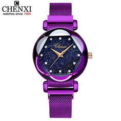 Luxury Rose Gold Women Watches Minimalism Starry sky Magnet Buckle Fashion Casual Female Wristwatch Waterproof Rhinestone watch Outfit Accessories From Touchy Style Cheap Watches, Casual Watches, Women's Watches, Ladies Watches, Jewelry Watches, Wrist Watches, Luxury Watches, Atm, Star Watch