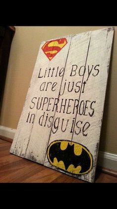 Superhero sign. This is just a picture