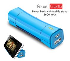 Power Cradle. This product is a kind of portable charger with dual functions of power bank along with mobile stand. The power banks are launched plenty in numbers now but what will make a difference now is the design and ergonomics.