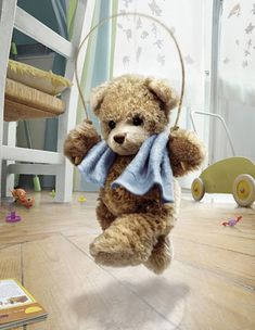 A bear jumping rope. I guess if he can do it so can I. :) A Bear in the Air @Niki Glover