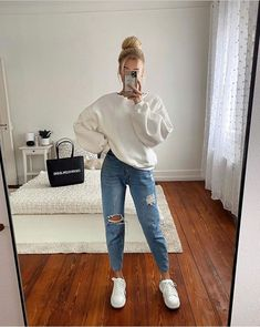 Casual Winter Outfits, Casual School Outfits, Basic Outfits, Winter Fashion Outfits, College Outfits, Mode Outfits, Simple Outfits, Stylish Outfits, Fall Outfits