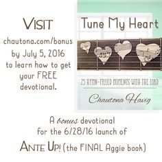 Bonus devotional when you buy Ante Up! - the newest and last book in the Aggie's Inheritance series by Chautona Havig.