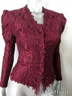 Vintage 90s Victorian Edge Floral Lace Merlot Jacket Sz S | eBay