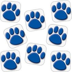 Blue Paw Prints Stickers or use whatever the school mascot is for reward slips