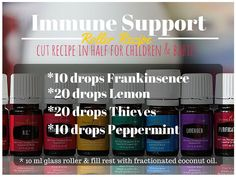 Immune Support and Cold Kicker! Modified recipe for 5ml roller bottle, I used: 5 drops each of Lemon, Frankincense, Oregano, Thieves, and Peppermint.