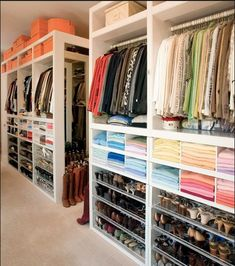 Closet with great shelving - via Clos-ette | Makely School for Girls