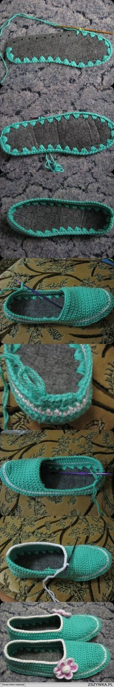 crochet - slippers - soles