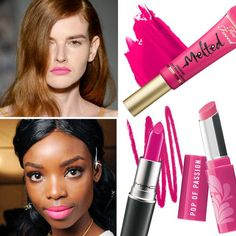 From Runway to Reality: The Hottest Spring Beauty Trends - Hot Pink Lip from #InStyle