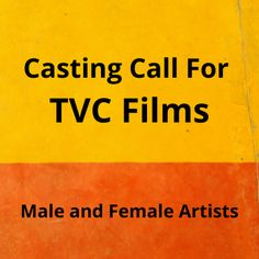 Looking for male and female artists for a Namkeen brand 4 TVC films and print shoot. The post Casting call for 4 TVC films & print shoot appeared first on Jobs and Auditions.