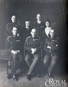 """"""" Very rare photo of Queen Olga of Greece with her children. First row (sitting): Prince Andrew of Greece, King Constantine I of Greece and Prince Nicholas of Greece. Von Hohenzollern, Adele, Anne Maria, Greek Royalty, Greek Royal Family, Grand Duchess Olga, Royal Blood, Royal Queen, Prince Andrew"""