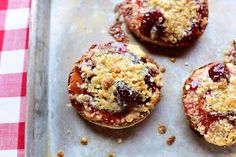 Peanut Butter & Jelly English Muffins...Annie would flip!