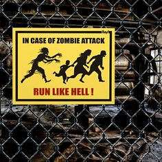 Ibacana - Placa In Case Of Zombie Attack