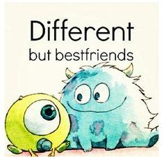 Different but bestfriends