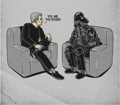 I always wondered how Darth Vader found out...it wasn't thru the force it was thru Maury Povich!