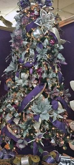 Lavender Christmas tree