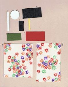 Washi Ningyo: Japanese paper doll - long sleeve kimono tutorial