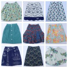 All 9 Oliver + S skirts sewn by Skirt Fixation!