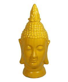 Love this Yellow Ceramic Buddha Head Figurine on #zulily! #zulilyfinds
