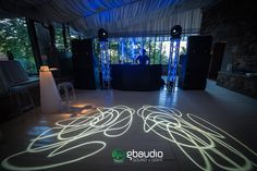Sound and lights setup at Castello di Vincigliata - Florence, Italy