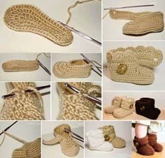 DIY Adorable Crochet Baby Booties | iCreativeIdeas.com Follow Us on Facebook --> https://www.facebook.com/icreativeideas