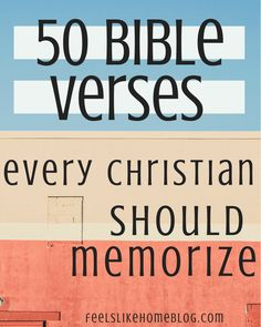 50 Bible verses every Christian should memorize - These beautiful frameable Bible Verse prints are great for women, men, teens, or kids to learn. The truths of the Word of God apply to everyone's life and heart. Many words spoken by Jesus Christ to children and adults. The Word of the Lord is good and beneficial. Great products and quotes for families to post in their home on the wall. #christianity #Bible #encouragement Bible Prayers, Bible Scriptures, Bible Quotes, Scripture To Memorize, Bible Verses For Women, Healing Scriptures, Biblical Verses, Scripture Study, Prayer Quotes