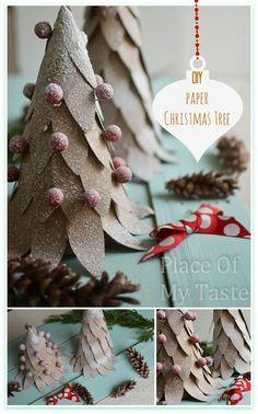 DIY Paper Christmas -Tree @placeofmytaste.com