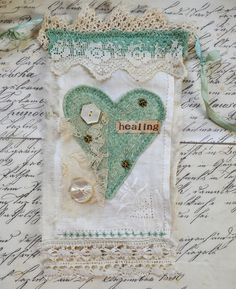 Wouldn't a prayer flag banner be such a wonderful way to remember loved ones past at a wedding?  Kristen we could make one out of Mormor's lace and include pennants for your grandparent (& Chad's?) as well as making pennants with prayers for your happy marriage!  I'm thinking shower project, maybe something for the aunts and cousins?