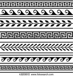 Afbeeldingsresultaat voor griekse randmotieven
