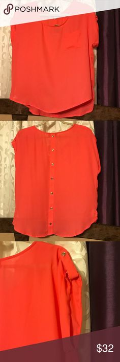NWT Gorgeous Orange Top From My Mom's Closet. Never worn! Perfect for any occasion. Tops Blouses