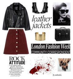 """""""Leather Jackets"""" by aulianka on Polyvore featuring Miss Selfridge, Gianvito Rossi, McKleinUSA, Blue Nile and Christian Dior"""