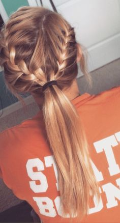 braid pony tail