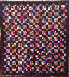 Joyful Journey 68 x 74 inch ethnic scrap quilt by OVBrantleyQuilts, $3000.00