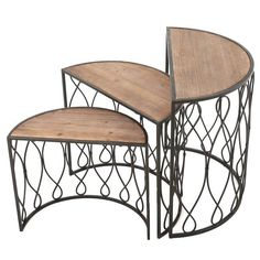 Christopher Knight Home Marseille 3-piece Rustic Nesting Table Set | Overstock.com Shopping - The Best Deals on Coffee, Sofa & End Tables
