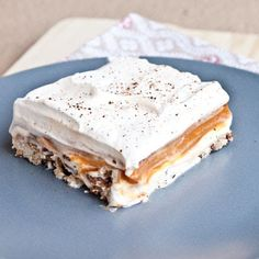 Pumpkin Lust Cake-The new pumpkin pie for Thanksgiving suggested another pinned. Sounds good.