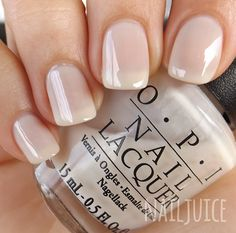 Nail Juice is all about nail polish, nail care and nail art. We also have our ow… Nail Juice is Opi Nails, Nude Nails, White Nails, White Nail Polish, Neutral Nail Polish, Opi Nail Polish, Nail Polishes, Manicure E Pedicure, Pedicures