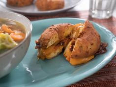 "Doughnut Grilled Cheese (Go Nuts for Doughnuts!) - Trisha Yearwood, ""Trisha's Southern Kitchen"" on the Food Network. Cheddar, Trisha's Southern Kitchen, Southern Dishes, Southern Recipes, Food Network Recipes, Cooking Recipes, Grilled Cheese Recipes, Grilled Cheeses, Sandwich Recipes"