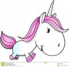 Cute Unicorn Pony Vector Illustration Stock Vector - Illustration: 41367366
