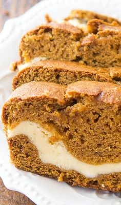 It's pumpkin season, and you're going to love this easy and delicious cream cheese filled pumpkin bread recipe. It's one of my favorite fall recipes!