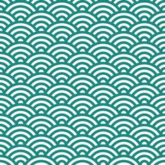 japanese waves fabric by dennisthebadger on Spoonflower - custom fabric