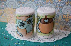♥ Sweet Owl Salz & Pfefferstreuer Set ♥ - ein Designerstück von SweetPorcelain bei DaWanda oder www.sweetporcelain.de