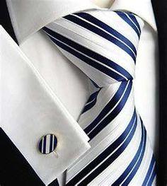 This men's necktie and matching cufflinks took my breath away.