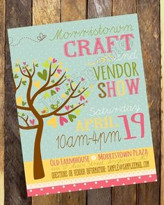 Spring Craft Show / Fair / Vendor Market Poster / Advertisement Digital CUSTOM PRINTABLE DOWNLOAD Church School Festival Activity Party